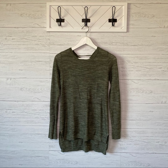 Knox Rose Pullover Sweater Green Small